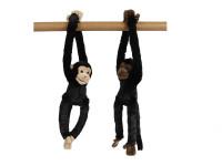 Opice plyšová 29 cm dlouhé ruce a nohy - mix barev