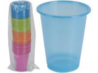 kelímek 200ml plastový (50ks) jednorázový - mix barev