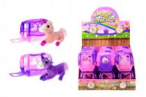 Jednorožec kůň plyš v přenosném boxu plast 11cm - mix barev