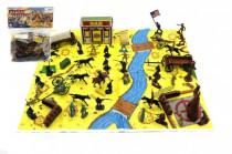 Sada indiáni a kovbojové s mapou a doplňky plast v sáčku 28x33cm