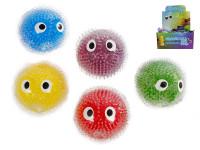 Míček strečový velké oči 10 cm - mix barev