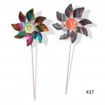 Větrník průměr 15cm třpytivý 40cm plast - mix barev