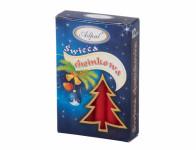 Svíčka vánoční stromečková matná d1,2x12cm 12ks