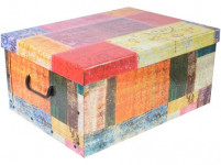 box úložný 51x37x24cm s víkem, karton - mix variant či barev
