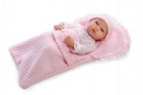 Panenka/miminko 42cm růžové s doplňky