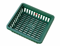 Košík na cibuloviny tmavě zelený 29x26cm 3ks