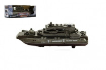 Ponorka vojenská narážecí plast 20cm na baterie se světlem se zvukem