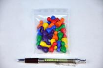 Figurky dřevo 25mm 24ks 6 barev společenská hra v sáčku 8x13cm