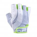 Spokey ZOE II Dámské - Fitness rukavice bílo-limetkové vel. M