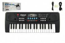 Piánko/Varhany/Klávesy 37 kláves, napájení na USB + přehrávač MP3 + mikrofon plast 40cm