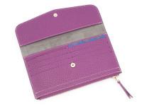 Moderní dámská peněženka s kapsou na drobné, eko kůže, fialová