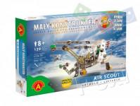 Malý konstruktér letadlo Air Scout kov 129ks stavebnice