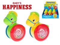 Koník klouzající 13 cm Baby´s Happiness - mix barev