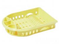 odkapávač na nádobí ovál 48x36cm s podnosem plastový - mix barev