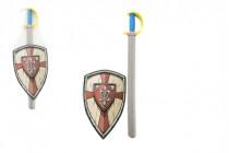 Meč pěna se štítem 75cm