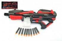 Pistole puška na pěnové náboje 10ks plast 54cm na baterie
