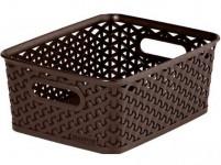 "box úložný RATTAN 25x20x10cm (S),""Y"" STYLE, plastový, HN"