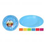 talíř 18cm plastový (30ks) jednorázový - mix barev