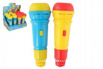 Mikrofon s ozvěnou plast 24cm - mix barev