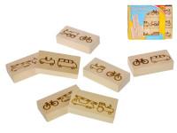 Domino dřevěné vozidla