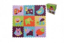 Pěnové puzzle zvířátka mix barev 9ks - mix variant či barev
