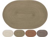 prostírání plastové, OVÁL 44,5x29,5cm - mix barev