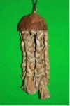 Hračka pták přírodní Medúza z ban. listů Terra vel. M, š. 9 cm, v. 32 cm