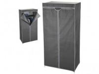 skříň šatní 75x45x160cm kov/textil