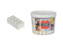 Blox 40 Kostičky bílé v boxu