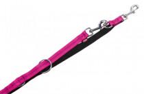 Vodítko nylon soft Grip přep. - tmavě růžové Nobby 2,0 x 200 cm