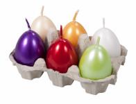 Svíčka VEJCE MIX velikonoční perleťová d4,5x6cm