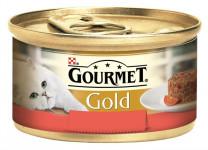 Gourmet Gold cat konz.-Savoury Cake hovězí,rajče 85 g - VÝPRODEJ