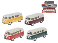 Autobus Volkswagen 1:32 13 cm kov zpětný chod - mix barev