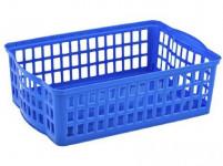 košík stohovatelný A5 25,5x17x7cm plastový - mix barev