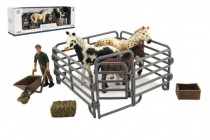Zvířátka domácí farma plast kůň s doplňky sada 4 druhy
