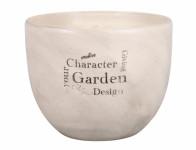 Obal na květník PURKYNĚ GARDEN NATUR keramický mat d13x11cm