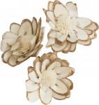 Dekorace - Sola Chips Star Sunflower 6 cm - 3 ks