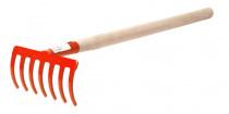 Hrabičky 7 Z s násadou 50 cm (75 cm) - oranžová