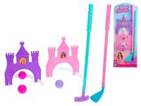 Golfový set princezna 2 ks holí 53-56 cm s míčky a doplňky