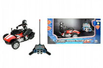 Tříkolka motorka RC plast 20cm na baterie na dálkové ovládání se světlem