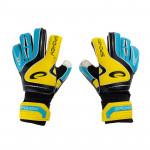 Spokey SUPPORT brankářské rukavice žluto-modré roz. 5