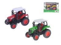 Traktor 9 cm 1:43 kov zpětný chod - mix barev