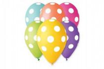 Balonek/Balonky nafukovací puntík 12'' průměr 30cm