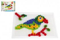 Mozaika sada plast barevná 400ks kloboučky+kolíčky