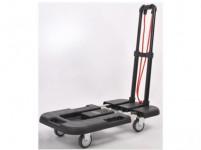 vozík plošinový skládací nastavitelný 750/1560x1035x380mm PP+kov, nosnost 200kg