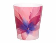Obal na květník HOLLYWOOD FLORAL keramický růžový 13x15cm