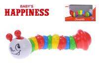 Chrastítko kloubové 19 cm Baby´s Happiness - mix barev