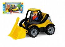 Auto Truckies nakladač plast 20cm s figurkou v krabici 24m+