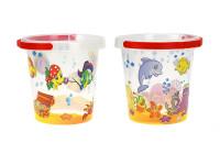 Kbelík transparentní 14 cm podmořský svět - mix variant či barev