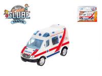 Auto slovenská ambulance 8 cm kov zpětný chod